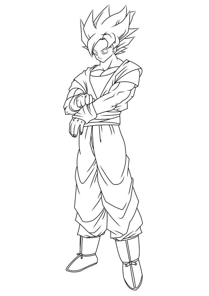 goku ssj3 coloring pages - raditz super saiyan10 free coloring pages