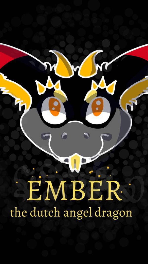 New OC- Ember the Angel Dragon by JadeLynxArt