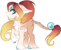 Lustrous Pony Adopt #1 - Sunset [CLOSED] by peaceouttopizza23