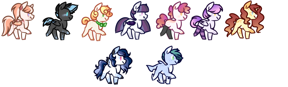Huge pony batch [CLOSED] by peaceouttopizza23
