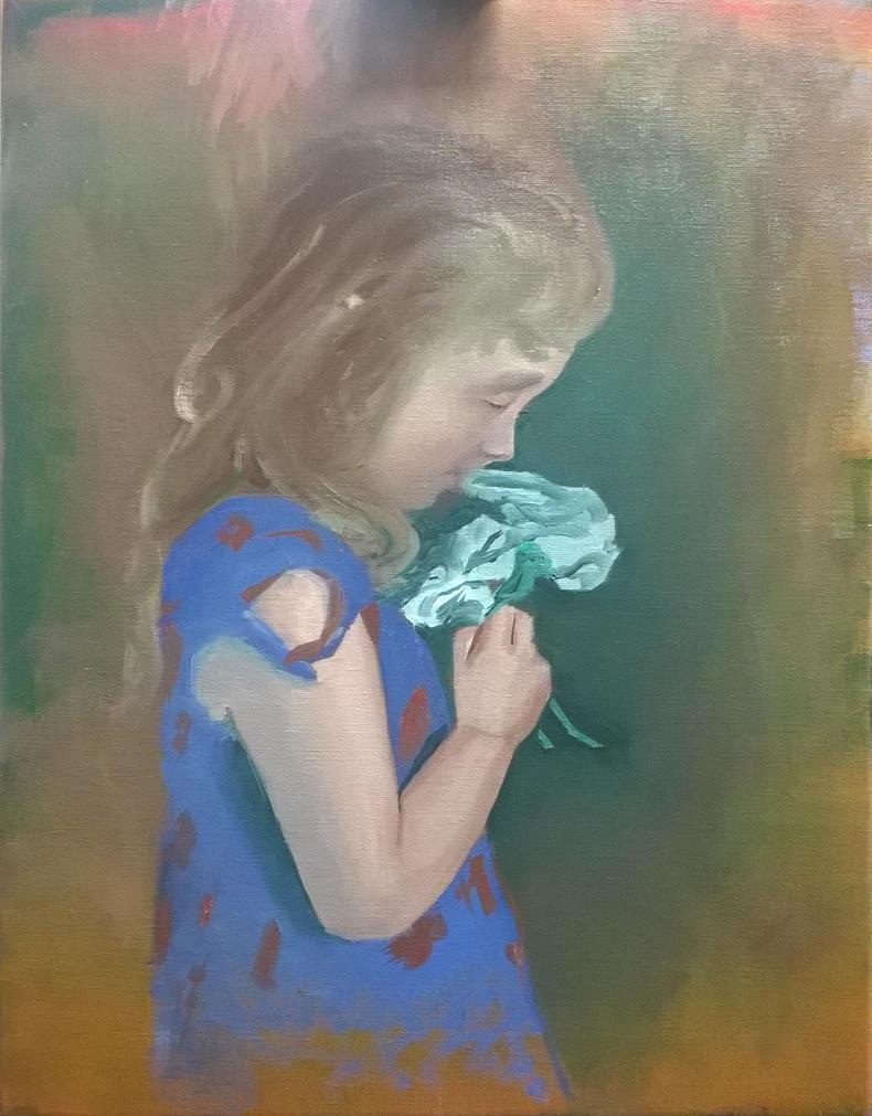 Ella in Oil 18x14  by Dunks1980