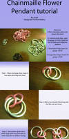 Chainmaille flower tutorial by lunabellvarga