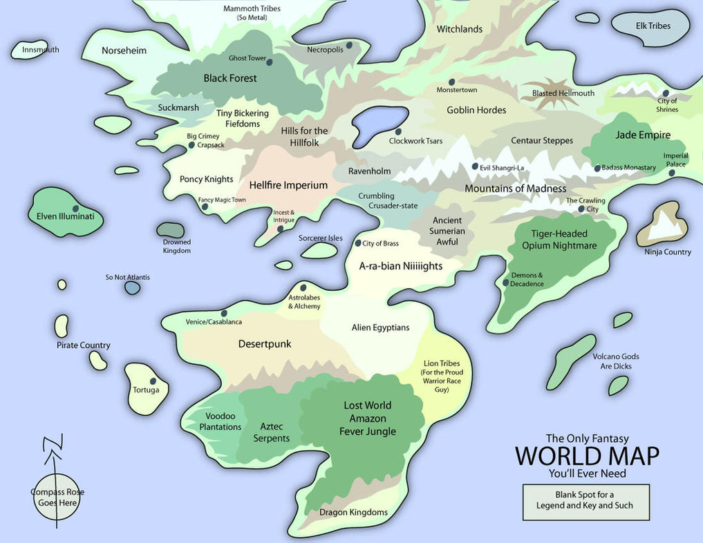 The Only Fantasy World Map by EotBeholder on DeviantArt