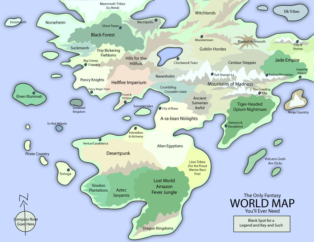 The Only Fantasy World Map you ll ever need Nerd O Mancer of Dork