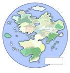 Fantasy World Map - Unlabeled