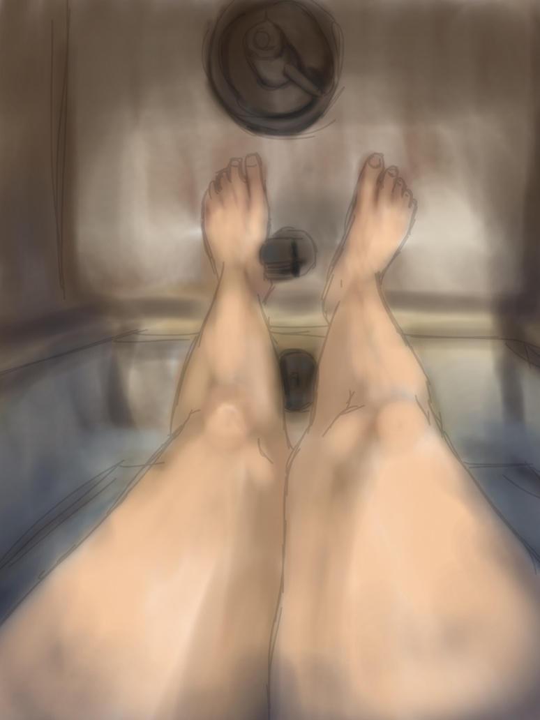 Painterly Legs by JadeLoneWolfe