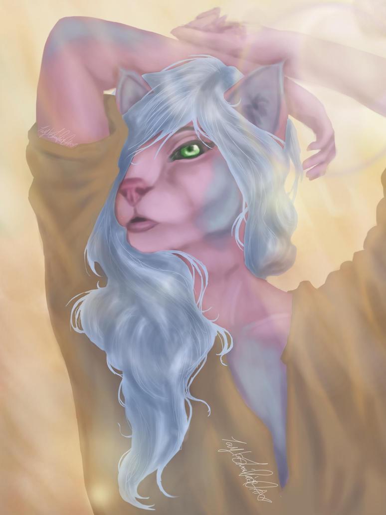 Bubblegum Cat by JadeLoneWolfe