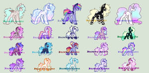 Cheap pony breedable auction - open 18/20 by Brownie-Adopts