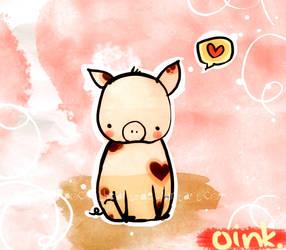 Valentine Piggy by pockethearts