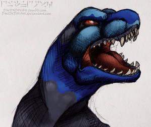Blue dino by dwiindovah