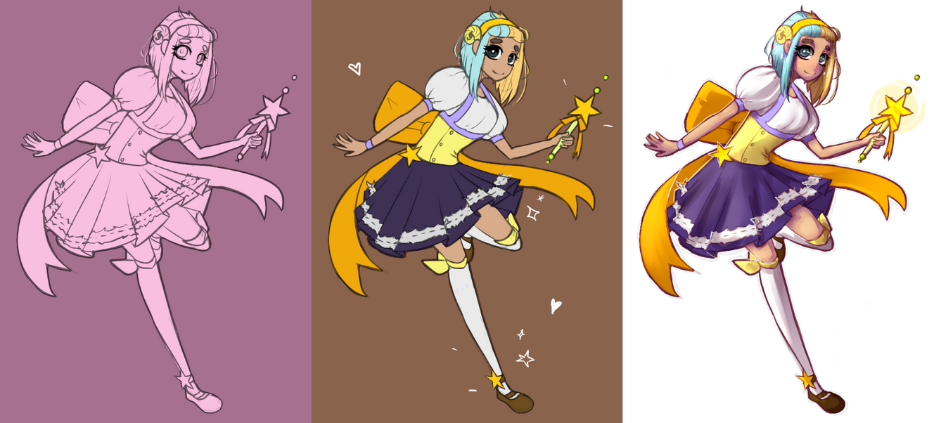 Magical Girl Process by Nalenthi