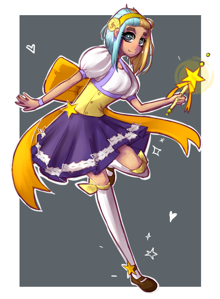 Magical Girl OC full size by Nalenthi