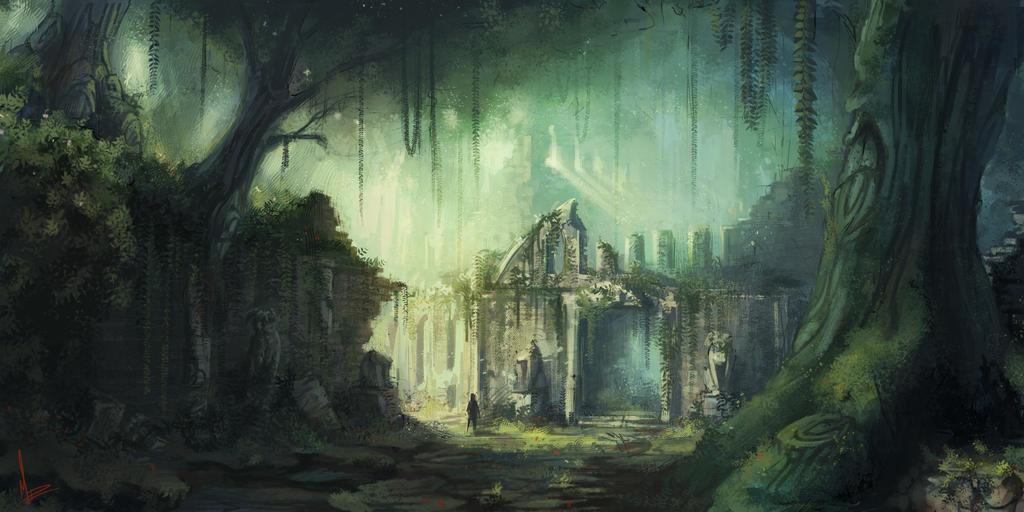 Ruins By Miriamrez On Deviantart