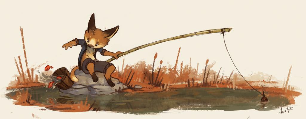 Clumsy fisher by MiryxG