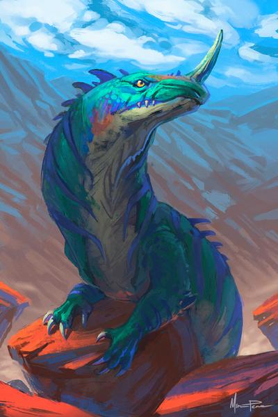 Mountain Creature by miriamrez