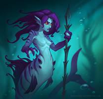 Mermaid guard by miriamrez
