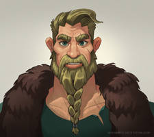 Viking portrait