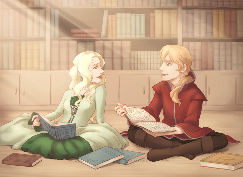 Ismene and Percy by MarvelPoison