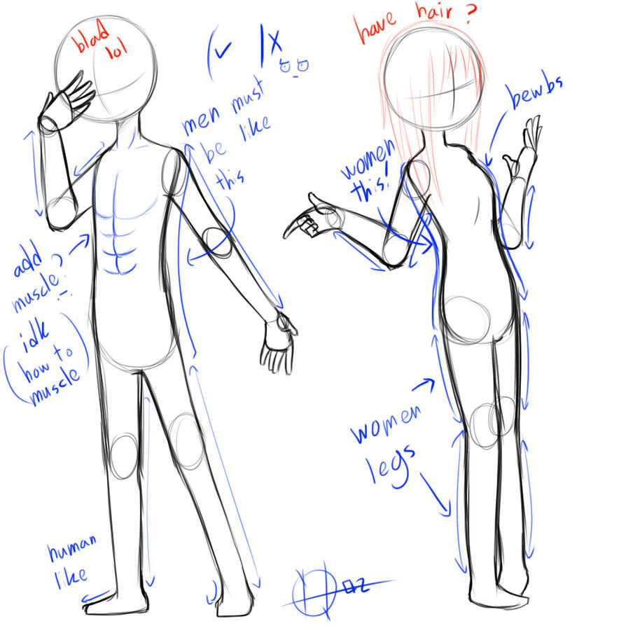 Anatomy tips by nasabobu on DeviantArt