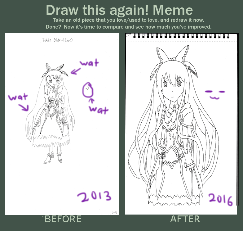 Meme~Draw This Again-Tohka Yatogami (Date A Live) by DisappointmentRao