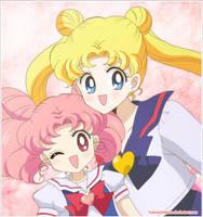 Chibiusa y Usagi by TsukinoChibiusa