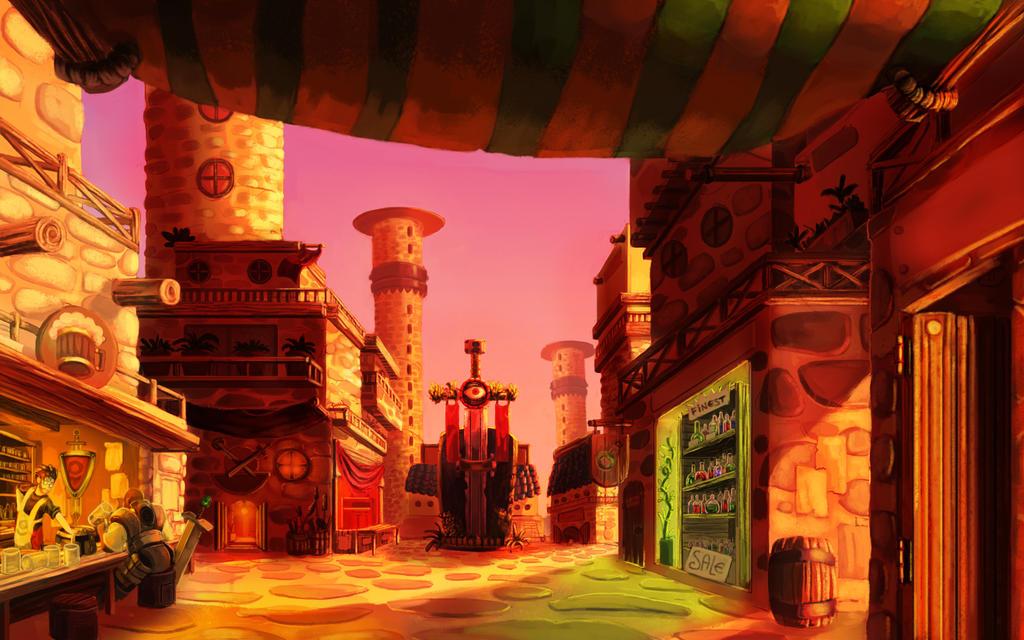 Sunset City by Paperheadman