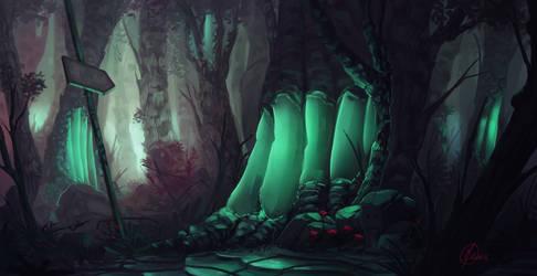 Nostalgic forest by Paperheadman