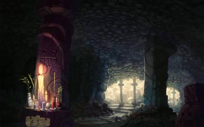 Cave altar