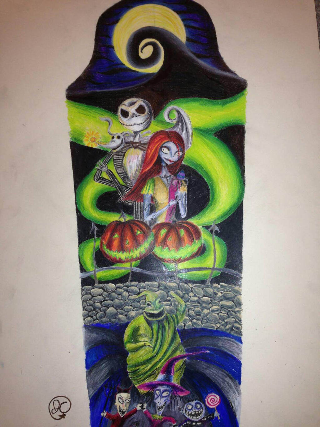nightmare before Christmas tattoo sleeve design by ...