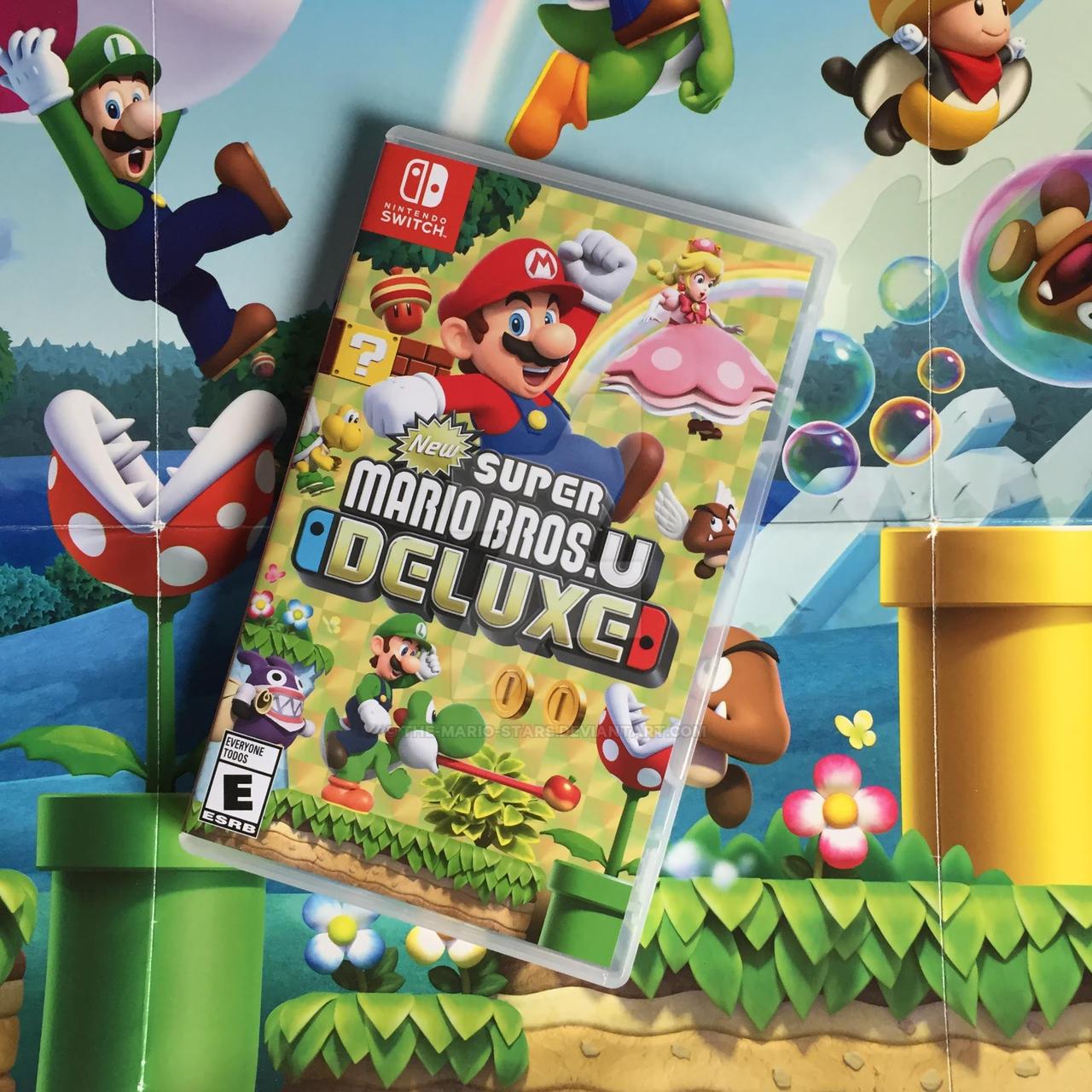 New Super Mario Bros U Deluxe Nintendo Switch By The Mario Stars