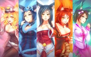 Power Rangers: Ahri Force by RiceGnat