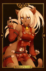 Wakfu - Ecaflip's Coin (alternate colors) by RiceGnat