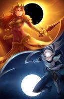 Sun and Moon by RiceGnat