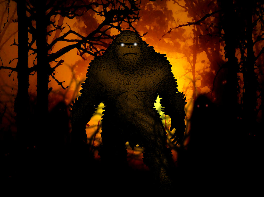 Bigfoot Stepping through the Woods