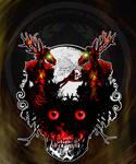 National Cryptid Society Wendigos on a Skull