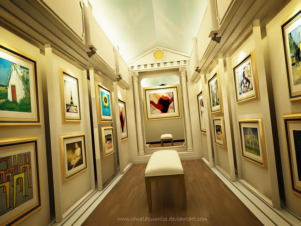Painting Gallery room by ronaldsunrise ...