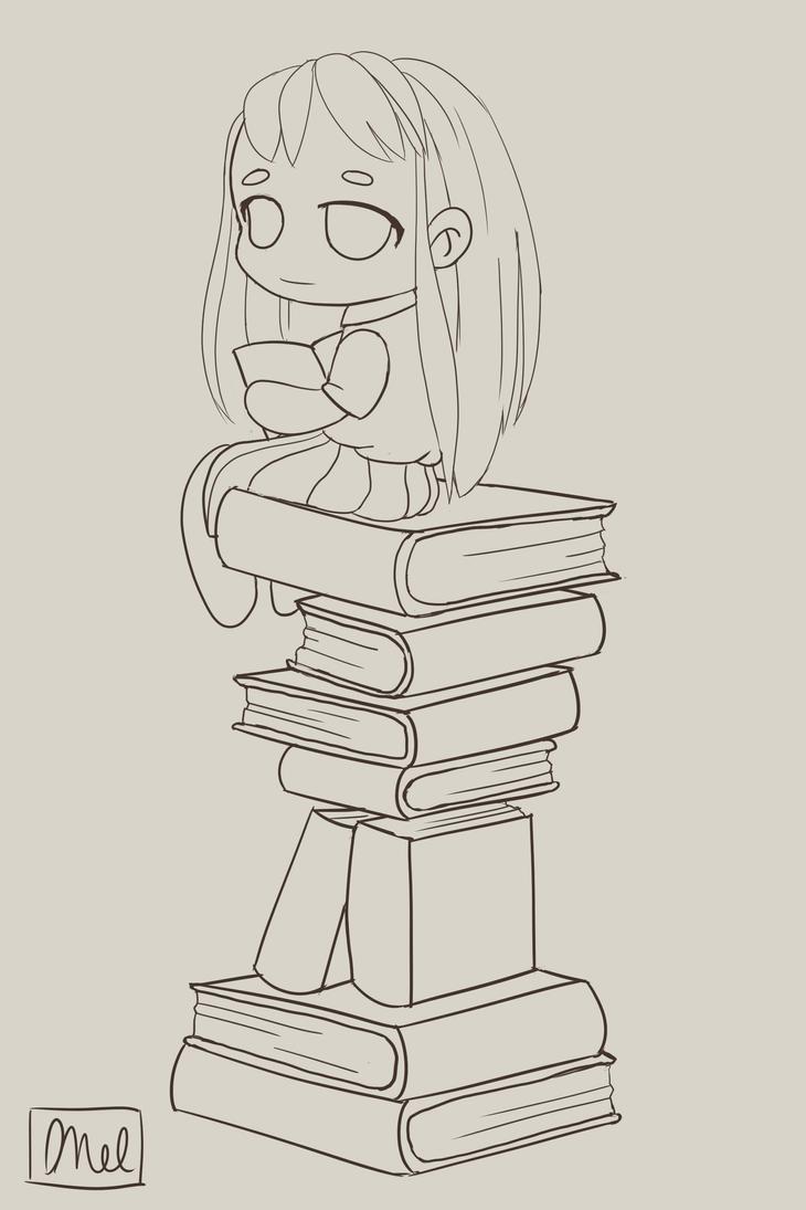 Book Chibi by GrinsandSmiles