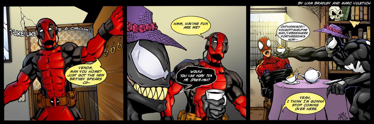Venom's Tea Party by ScarletVulture
