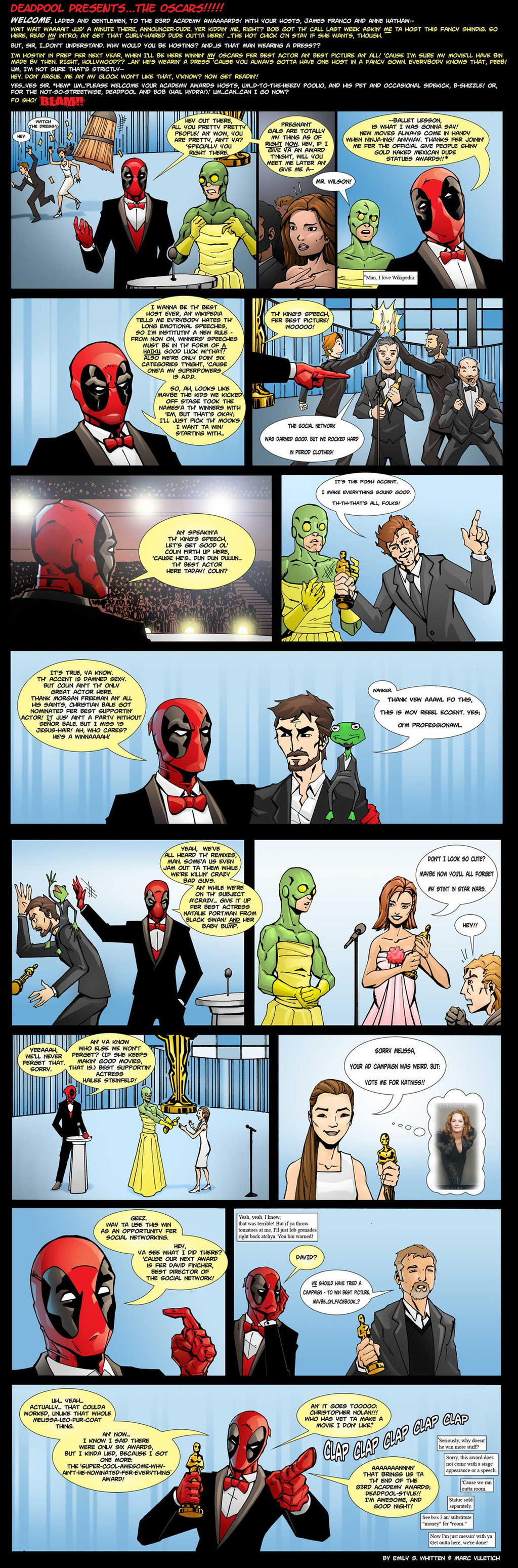 Deadpool Presents the Oscars by ScarletVulture
