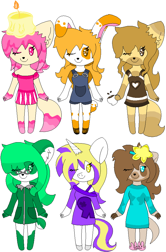 Cute Chibi Adoptables (3 LEFT) by DewdropLightly