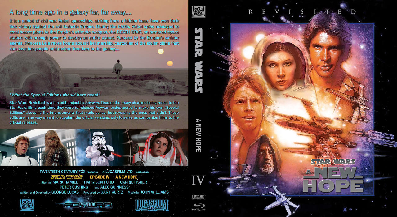 Star Wars Revisited A New Hope custom blu ray cover