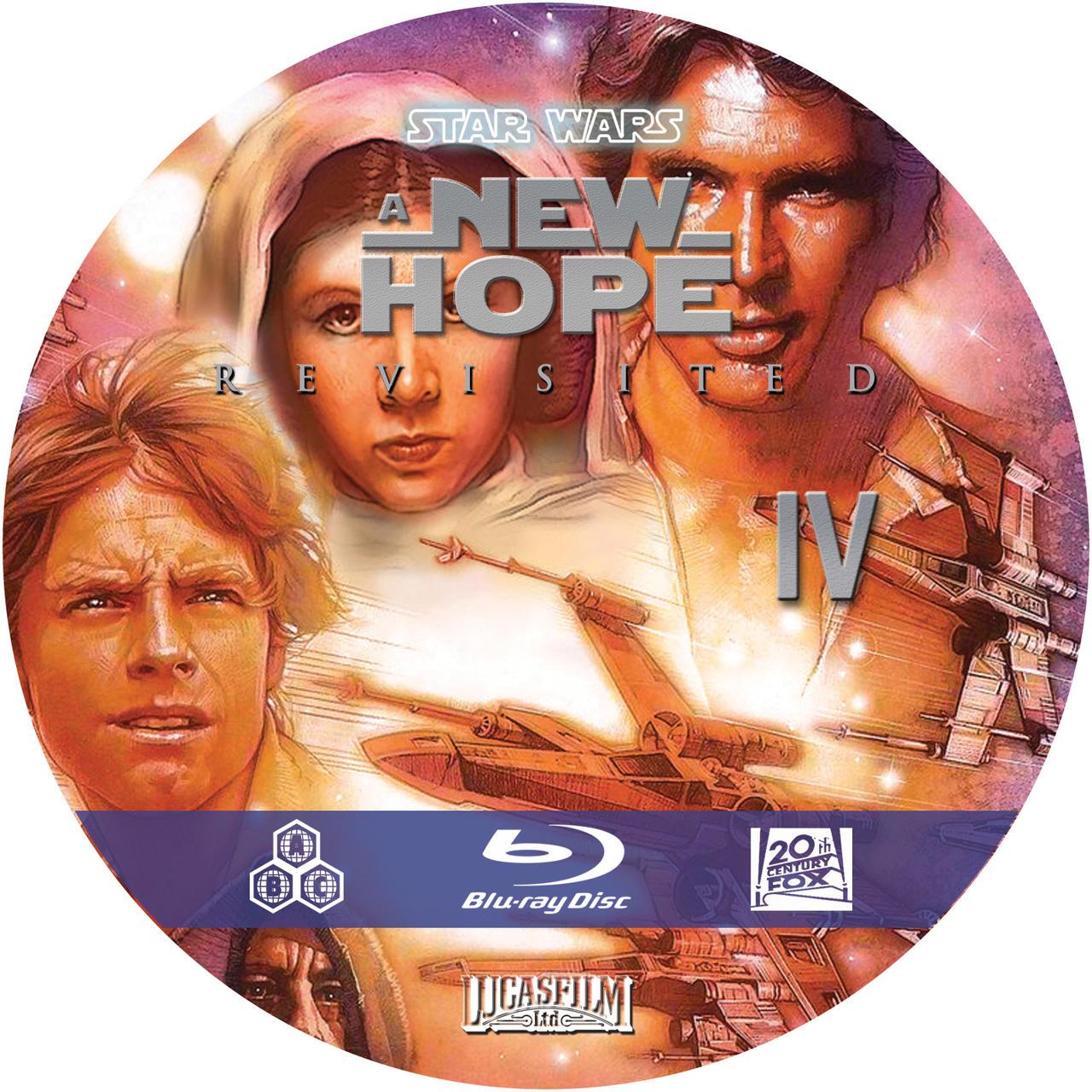 Star Wars Revisited A New Hope custom blu ray disc art