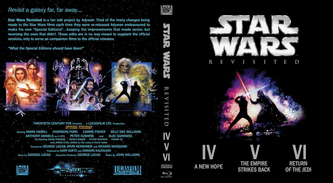 Star Wars Revisited Trilogy custom blu ray cover