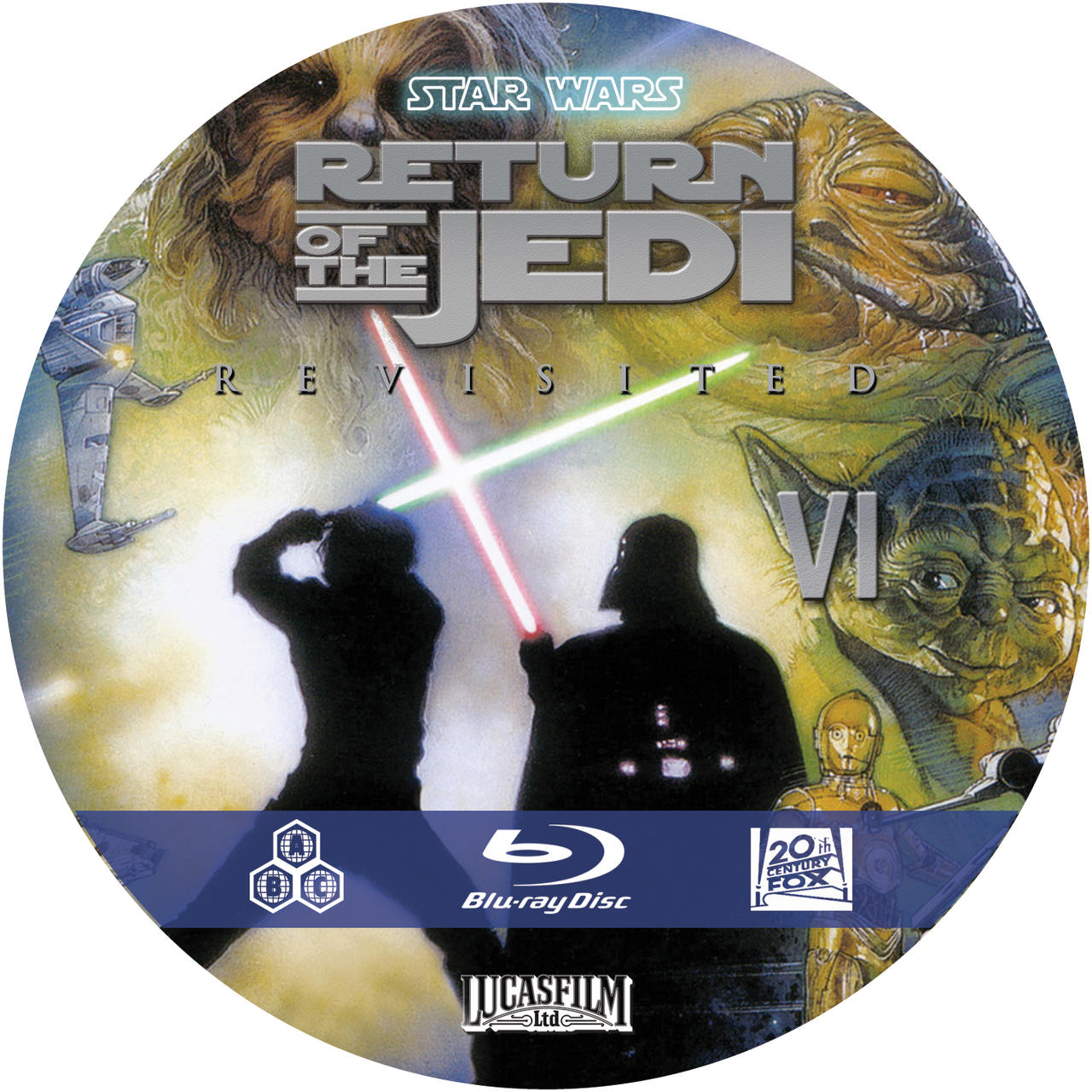 Star Wars Revisited Return of the Jedi custom blu ray disc