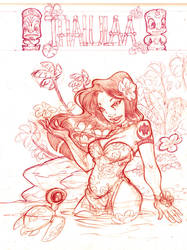 Sketch of Cover 'Thalulaa' by Ood-Serriere