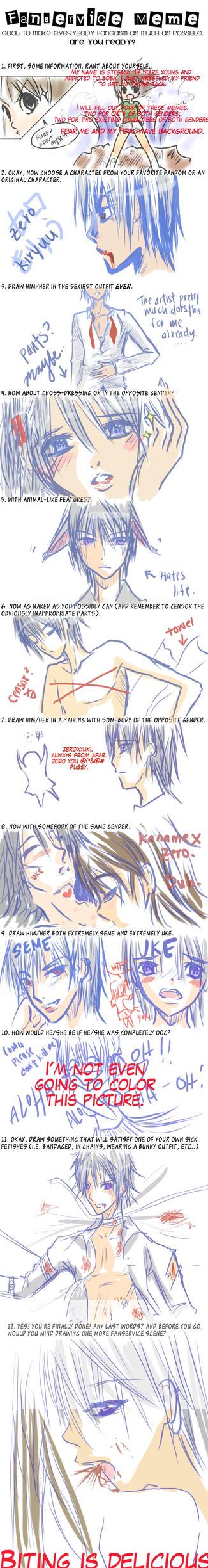 Fanservice Meme - Zero Kiryuu by silent-requiem