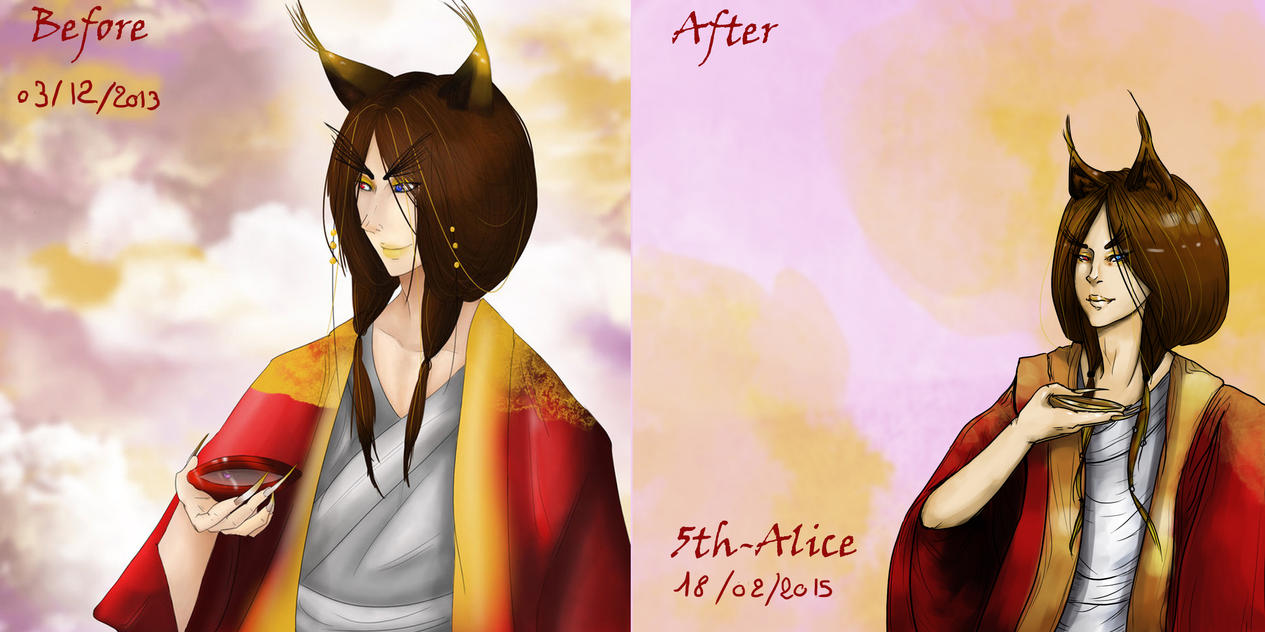 Before and after meme ! by 5th-Alice