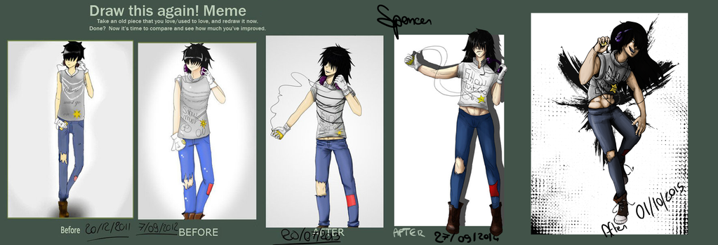 5 years of Improving ! With Spencer \ovo/ by 5th-Alice