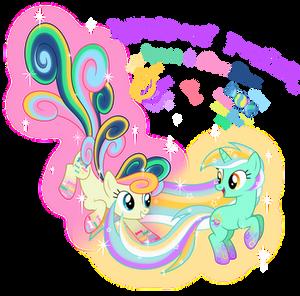 Rainbow Power Couple!