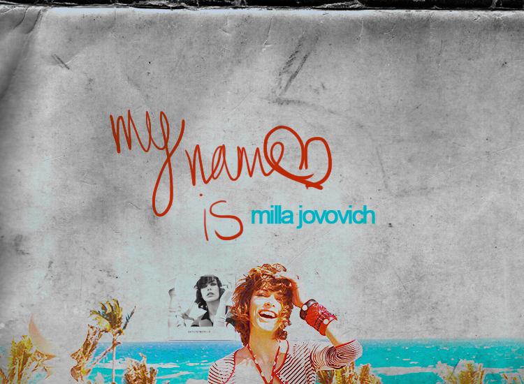 Milla Jovovich Collage by xfusionn